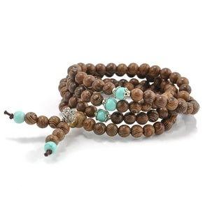 Jewelry - Sandalwood Buddhist Meditation Bracelet NWoT
